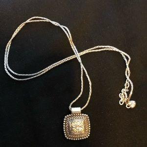 Brighton necklace, long necklace, silver